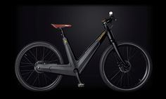 Carbon-Monocoque Electric Bike LEAOS ebike.  Another color, carbon black.