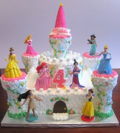 castle cake with princess