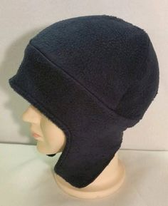 Navy Blue Beanie Hat with full ear flaps, Boy Fleece Hat with Full Earflaps, Dark Blue Boy Ear Flap Hat, Navy Blue Unisex Hat by StephFleeceDesigns on Etsy