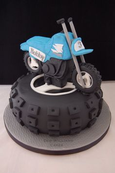 Motocross motorbike birthday cake