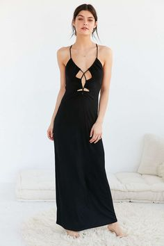 out from under cutout front maxi slip from Urban Outfitters