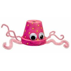 Perky Pink Squid Craft is a great craft for the all pink bedroom. www.freekidscrafts.com