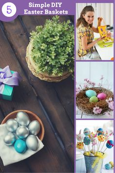 5 Simple DIY Easter Baskets - These Easter basket ideas are all easy to make and super fun!