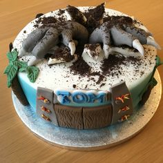 Jurassic World themed cake.