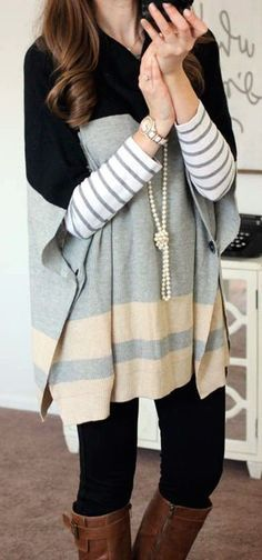 #fall #outfits / stripes