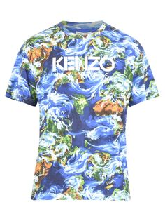 Kenzo Short Sleeve T-Shirts Branded T Shirts, Kenzo, Crew Neck, Short Sleeves, Men Casual, Mens Fashion, Mens Tops, Cotton, Blue