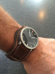 Custom Horween Leather Bund Watch Strap from 922Leather.com