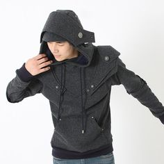 Patrick Armored Knight Hoodie(100% Handmade Wool) Made To Order. $218.00, via Etsy.
