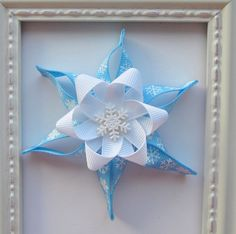 Winter Snowflake Sculpture Hair Bow - Cute for Winter, Great Gift Idea or Party Favor for Christmas. $5.50, via Etsy.