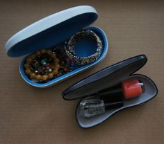 Use eyeglasses cases for packing for travel | Reuse When Possible, Recycle Always!