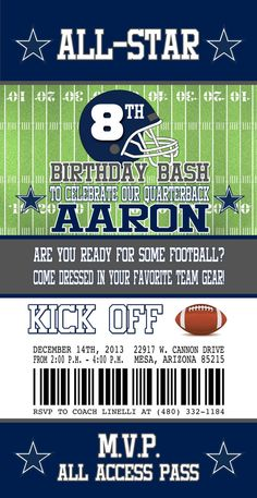 sports ticket template free download - 1000 ideas about dallas cowboys party on pinterest