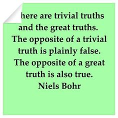 Niels Bohr quotes Wall Decal