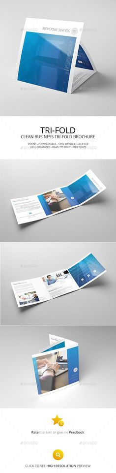 Square TriFold Brochure  Tri Fold Brochure Tri Fold Brochure