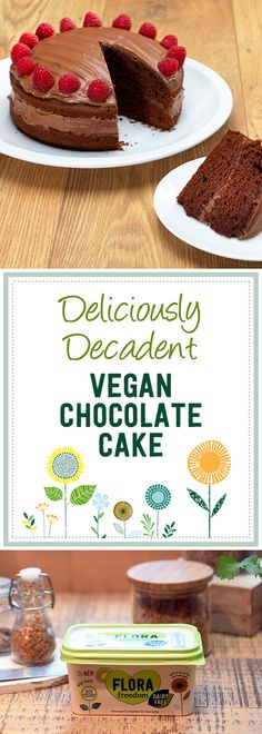 You might be vegan, but you can still have your cake and eat it! Using Flora Freedom means that this eggless chocolate cake recipe is full of dairy free deliciousness.