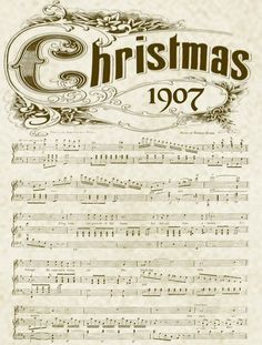Printable Christmas Music Sheets- I think I'll use some of these in a creative way this year!