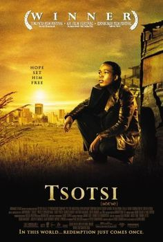 An amoral teenager develops an unexpected paternal side in this powerful drama from South Africa. Tsotsi (Presley Chweneyagae) is the street name used by a young Johannesburg delinquent who has taken to a life of crime in order to support Films Photos Great Films, Good Movies, Saddest Movies, Awesome Movies, Image Internet, Toronto Film Festival, Life Of Crime, Indie Films, Foreign Movies