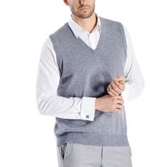 This is a pure cashmere vest for men. Luxurious, soft and really warm, our sweaters are made from the finest grade of cashmere wool. These sweaters are made Cashmere Wool, Night Out, Men Sweater, Vest, Boutique, Luxury, Sleeves, Sweaters, Collection