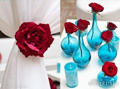 Tiffany Blue and Red Wedding Blue Wedding, Elegant Wedding, Wedding Day, Elvis Wedding, Wedding Picnic, Tulip Wedding, Wedding Country, Wedding Veils, Wedding Season