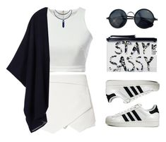 """""""Navy&white"""" by felytery ❤ liked on Polyvore featuring Ultimo, Monki, adidas Originals and Tory Burch"""
