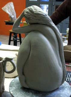 Sculpture in process. By Sheri Ritchie