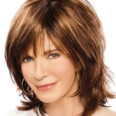 Dazzle Wig by Jaclyn Smith – - Frisur Ideen Medium Hair Cuts, Short Hair Cuts, Medium Hair Styles, Short Hair Styles, Medium Layered Hair, Short Shag Hairstyles, Easy Hairstyles, Long Haircuts, Mid Length Layered Hairstyles