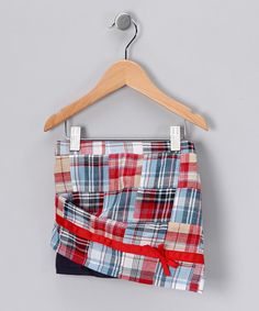 #fall #zulily Take a look at this Red Patchwork Skirt - Toddler & Girls by Blow-Out on #zulily today!