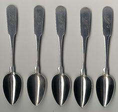 Antique Boston coin silver spoons
