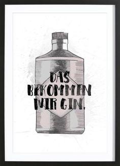 Gin als Gerahmtes Poster von Maren Kruth   JUNIQE