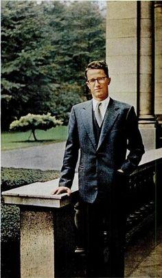 carolathhabsburg:  Late King Baudouin of Belgium.  He's look-alike with Leslie Howard