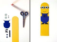 Minion Bookmark #minions #bookmark #diy #papercrafts