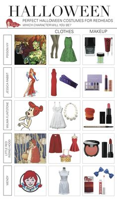 For your redhead halloween costume, if you aren't dressing up as a Disney character or popular TV star, then you are probably going for one of these looks. Here are the secrets behind a great costume. Halloween Costumes Redhead, Redhead Costume, Character Halloween Costumes, Popular Halloween Costumes, Halloween Kostüm, Couple Halloween, Halloween Cosplay, Halloween Outfits, Diy Costumes