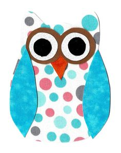 Iron on owl applique DIY by patternoldies on Etsy