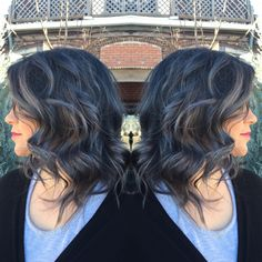 Awesome grey steel using Kenra metallics!!! Took her from pravana bright red vivids to this!!