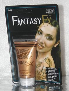 Gold Mehron Fantasy FX Tube Makeup Water Based Face Paint Clown Theater Costume Stage | eBay $4.99