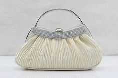 Gorgeous Plain Crystal Small Clutches, Single Deck