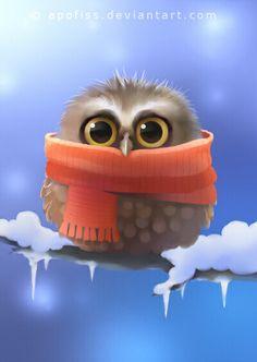 little owl by Apofiss on @DeviantArt