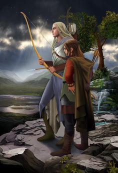 Beleg and young Túrin. Beleg Strongbow was a Sindarin Elf who served in the army of King Thingol of Doriath. Together with Mablung he is one of the great captains of Thingol and was a member of the party in the legendary hunt of the great wolf Carcharoth. Beleg becomes the mentor, steadfast friend and brother-in-arms of Túrin Turambar. (Silmarillion / Children of Hurin)