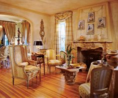 French decorating by Diane Burn designer, at her home Palm Beach, FL