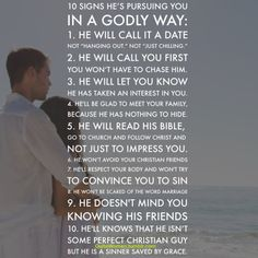 10 Signs Hes Pursueing You IN A GODLY WAY.