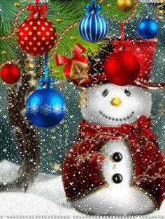 Cute Snowman, Christmas Snowman, Winter Christmas, Christmas Bulbs, Christmas Crafts, Merry Christmas, Xmas, Christmas Scenery, Christmas Themes
