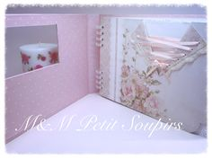 The first thing you need to know about making a scrapbook is that it isn't a complicated process at all. Scrapbooking isn't just for the 'crafty' person among Mini Scrapbook Albums, Wedding Scrapbook, Mini Albums, Album Scrap Boda, Puff Quilt, Wicker Mirror, Book Pages, Wedding Guest Book, Ideas Para