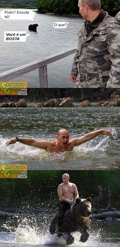 bear provoking Putin