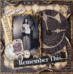 Vintage Scrapbook Layouts | vintage scrapbook layout