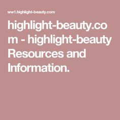 highlight-beauty.com - highlight-beauty Resources and Information.