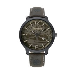 b469f38035d1 Timberland Men s Gray Dial Faux Leather Watch - TBL15899JYB61