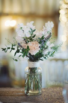 Jam Jar Flowers - Blush Pink Wedding Dress by Suzanne Neville Pink and Gold Themed Wedding At Blake Hall Essex With Images Julia & You