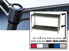 """Wire Shelving Liners 18 inches x 24 inches Set of 2 - enhance and improve your shelves (Black) (1/8""""H x 18""""W x 24""""D) by Chadko,LLC. $47.99. Color: Black. Size: 1/8""""H x 18""""W x 24""""D. Enhance your living environment, cover up clutter, and create an affordable """"designer look"""" with these dynamic Black Wire Shelving Liners. Sold in a set of 2, go ahead and add more function to your wire shelving unit (sold separately) with the outstanding, sturdy, durable, and always reliable 1/8"""" PVC ..."""