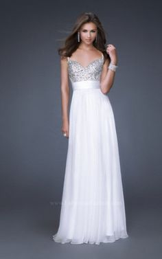 Now I like this Dress, but IMHO I dont feel White is appropriate for a Military Ball. Its a Ball not a wedding. Now find this dress in a different color it would be perfect