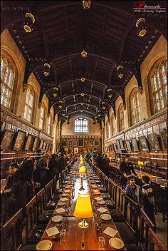 Hogwarts - The Dining Hall of Christ Church Oxford, University of Oxford, UK