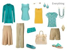 """A great way to """"test-drive"""" an accent color. Say you already have a solid core wardrobe and you decide that, for warm weather, you're going to give turquoise a try. A cardigan and two tee shirts, a couple of inexpensive pieces of jewelry, and a pair of shoes OR sandals.    The Vivienne Files: Start With Art: The Blue Pool by Augustus John"""
